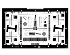 1X - Enhanced I3A/ISO 12233 Digital Camera Resolution Test Chart, #58-940